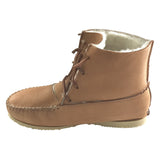 Men's Sheepskin Lined Rubber Sole Moosehide Boots B114719