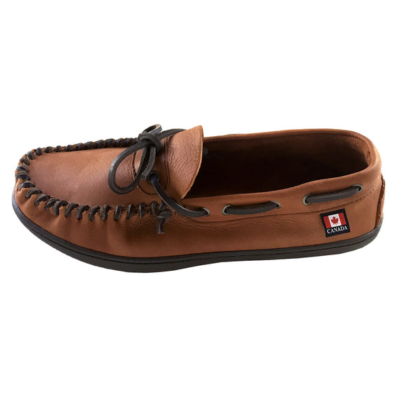 Men's Hunter Sole Wide Width Leather Moccasin Shoes