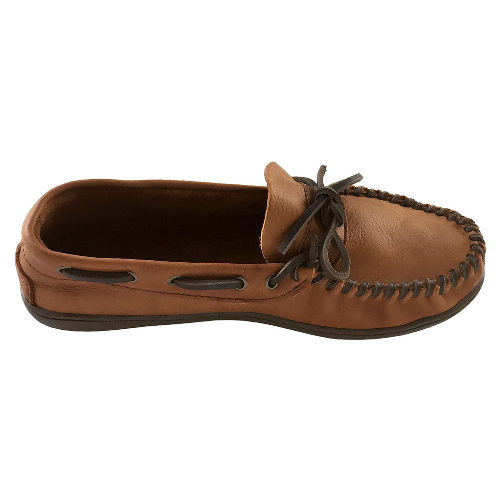 c767855a896 Men s Extra Wide Width Fit Rubber Sole Genuine Leather Moccasin ...