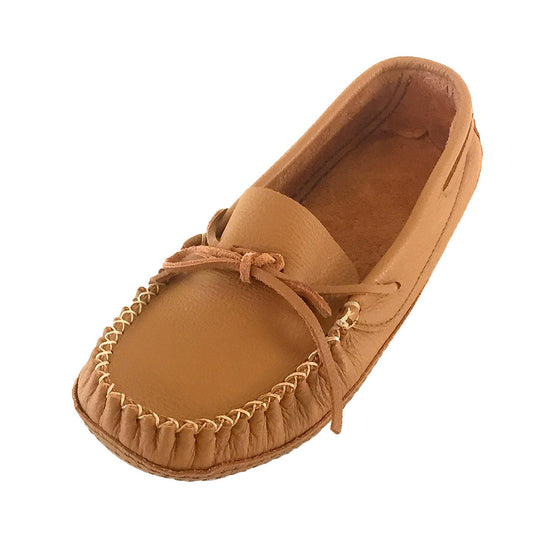 Men's Wide Width Soft Sole Leather Moccasins