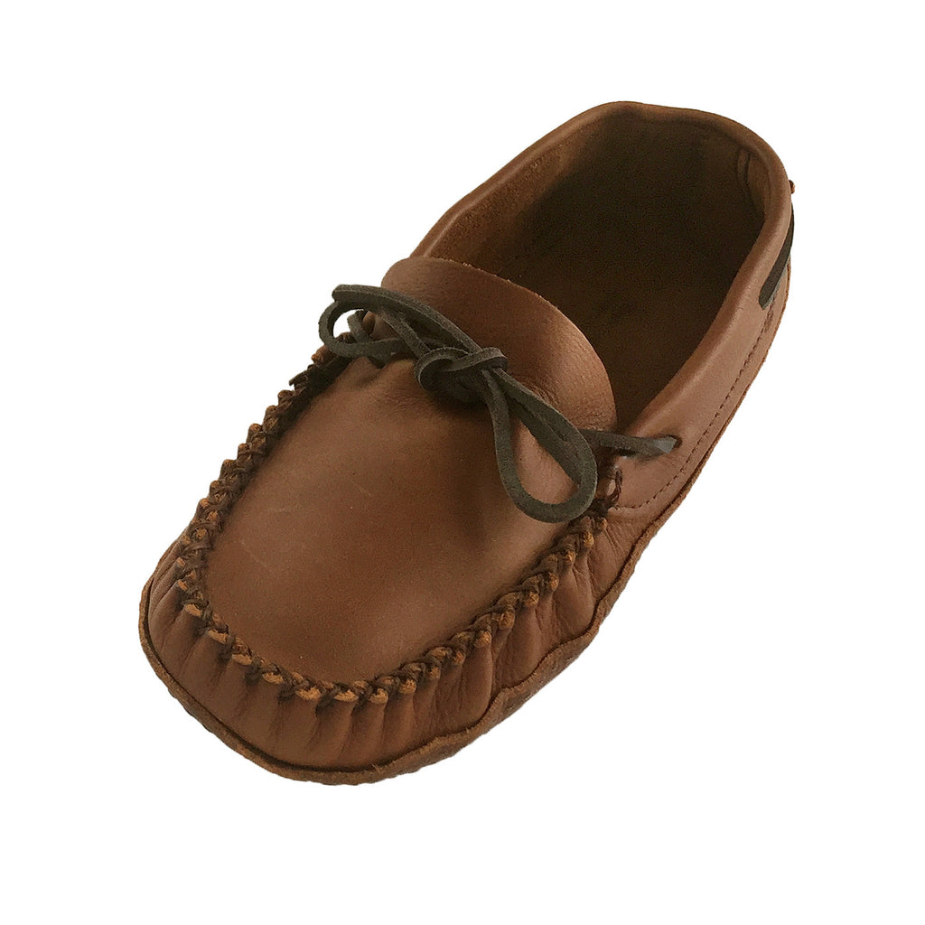 Men's Soft Sole Wide Width Leather Moccasins 1461