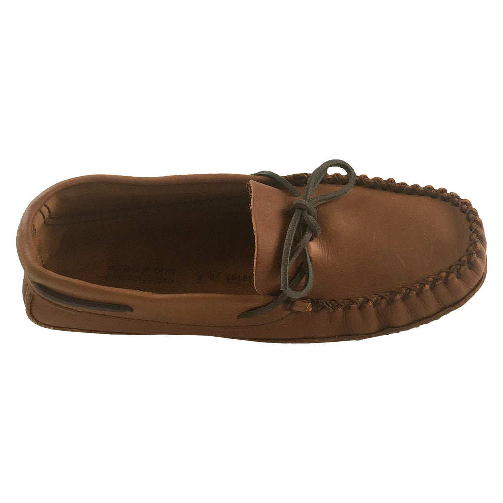 Mens Extra Wide Width Fit Genuine Leather Soft Sole Moccasin
