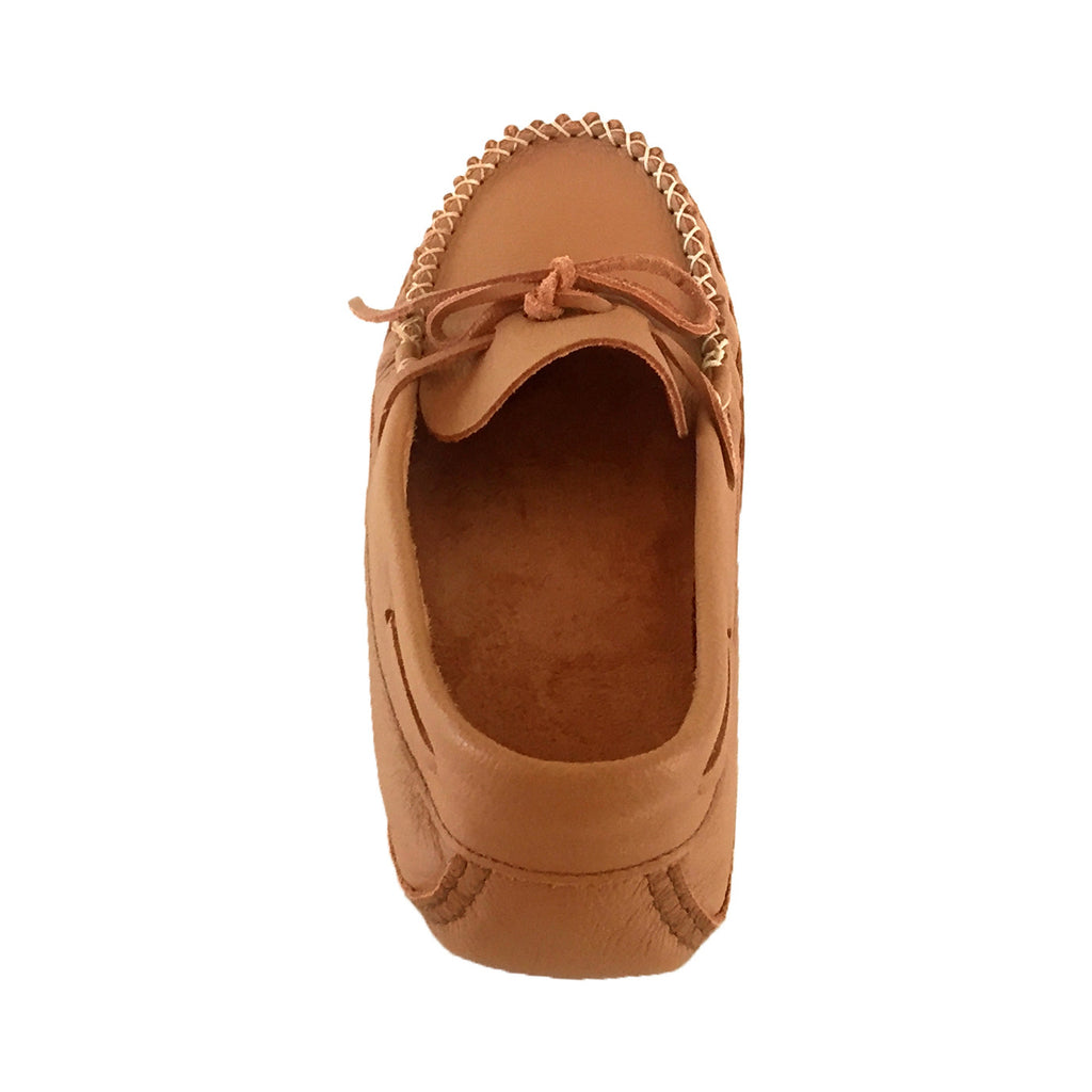 Mens Wide Soft Sole Genuine Cowhide Leather Indoor Moccasin