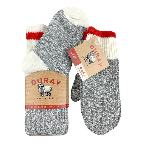 Women's Tall Wool Work Socks & Mittens Gift Set