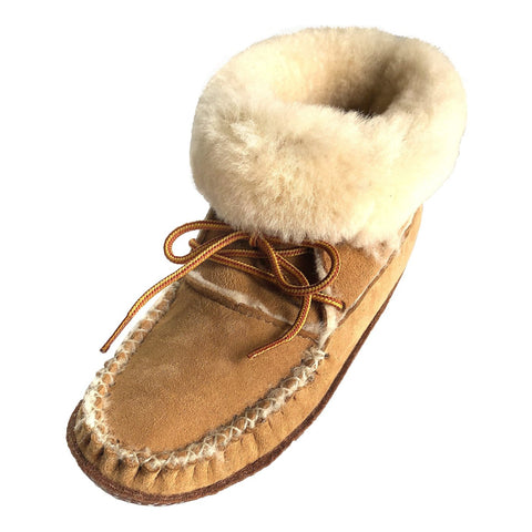 Women's Sheepskin Lined Soft Sole Moccasin Slipper Boots BB7171