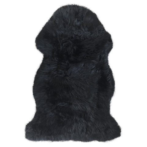 Black Sheepskin Motorcycle Seat Cover RLP-80