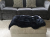 Black Sheepskin Motorcycle Seat Cover