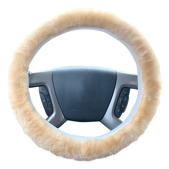 Natural Sheepskin Steering Wheel Cover