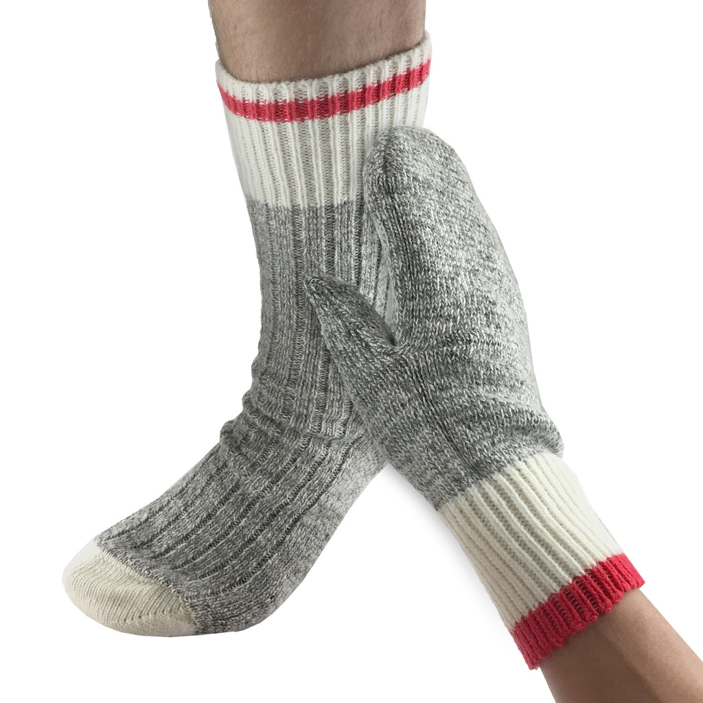 Men's Wool Work Socks & Mittens Gift Set