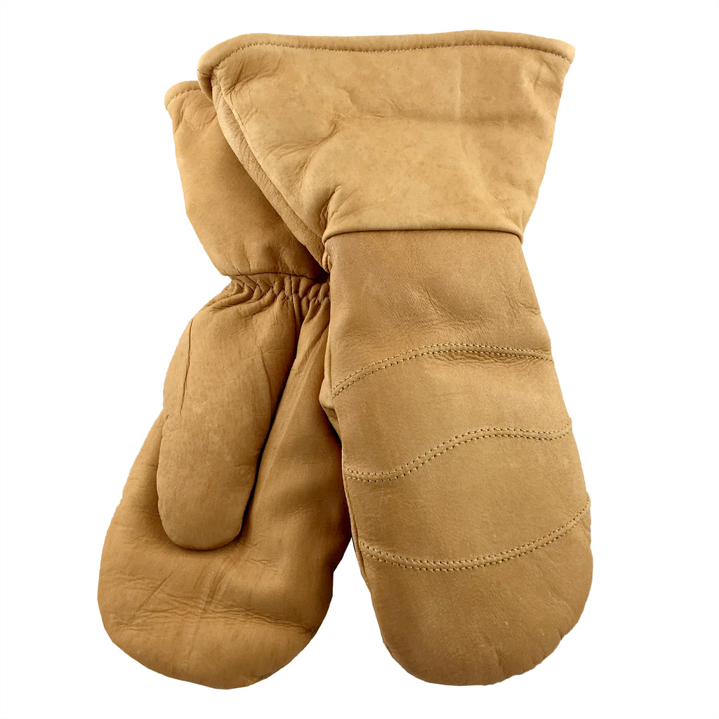 Men's & Women's Moosehide Leather Gauntlet Mittens K-303CK