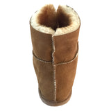 Women's Sheepskin Cabin Slippers with Velcro 961L