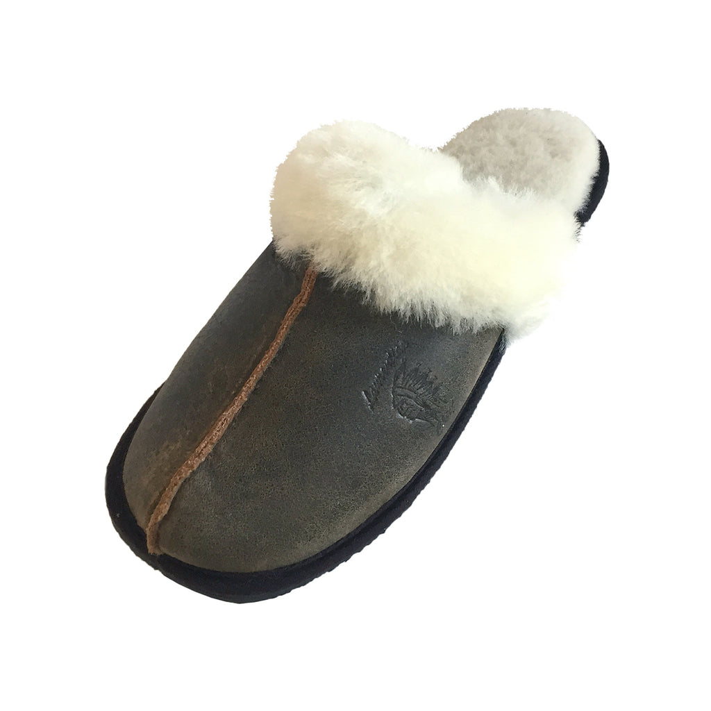 Women's Slip On Sheepskin Slippers with Crepe Sole 87118