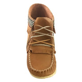 Women's Cork Brown Leather Moccasin Boots 137597L-C