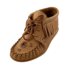 Women's Rubber Sole Fringe Ankle Moccasin Shoes