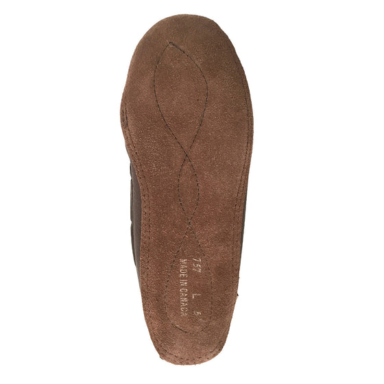 Women's Sheepskin Lined Dark Brown Moccasins