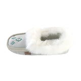 Women's Sheepskin Lined Suede Moccasins With Rabbit Fur - KB201