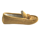 Women's Fleece Lined Beaded Moosehide Suede Moccasins 402