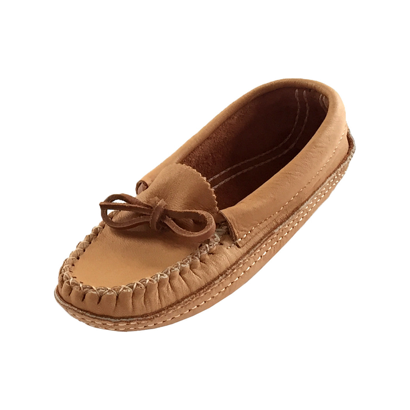 moccasin girls Hand sewn stitching to maintain a level of craftsmanship that makes moccis the finest moccasin available.