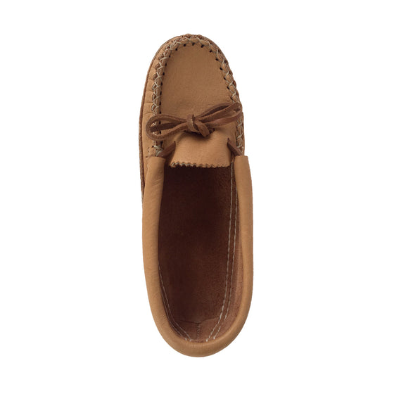 Women's Soft Sole Moose Hide Leather Moccasin Slippers