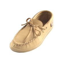 Women's Rubber Sole Moose Hide Leather Moccasins