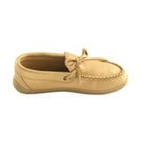 Women's Rubber Sole Moosehide Leather Moccasins 41474