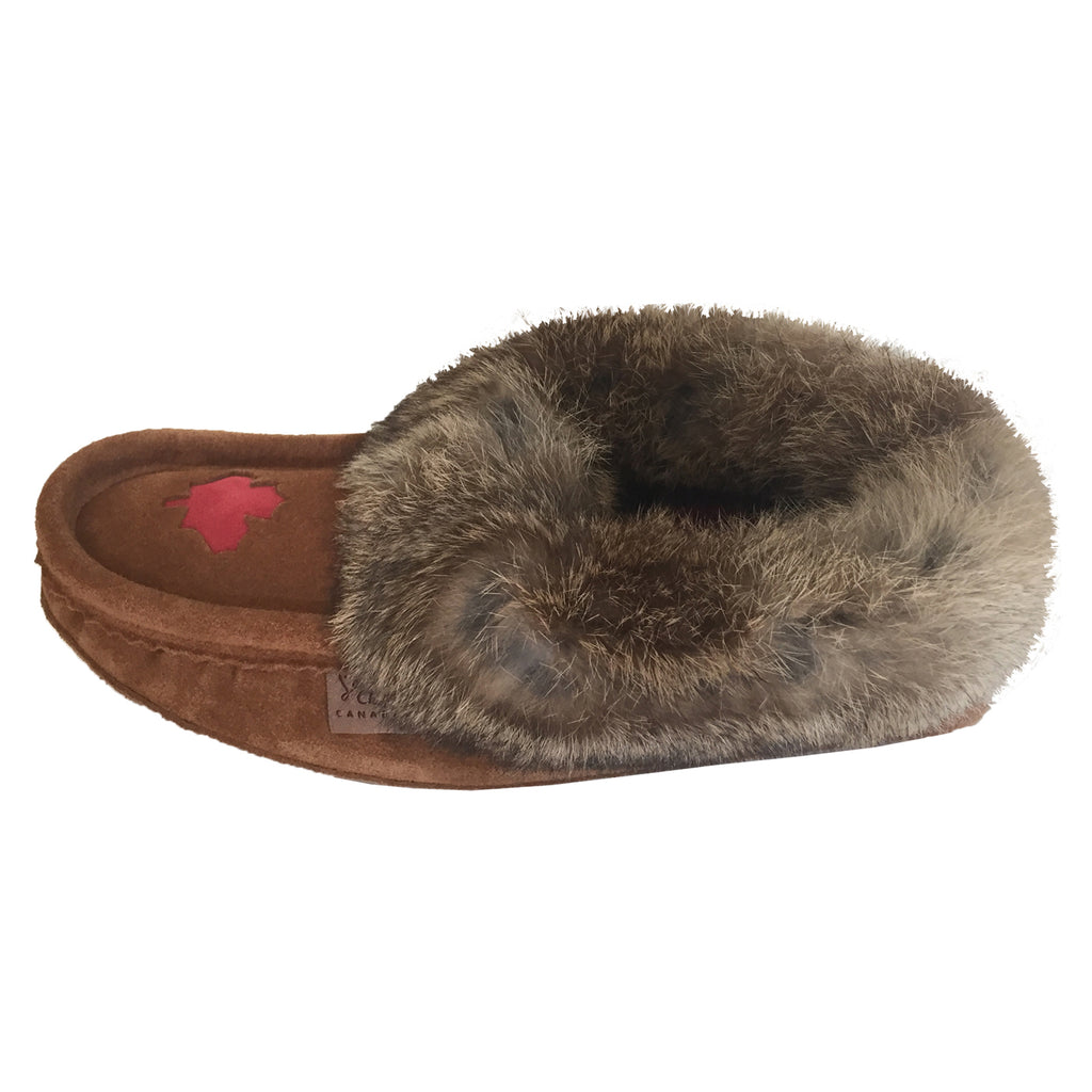 how to make moccasins with fur