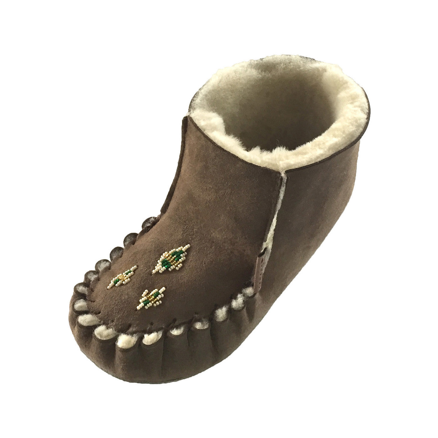 Women's Ankle High Soft Sole Real Sheepskin Slippers in ...