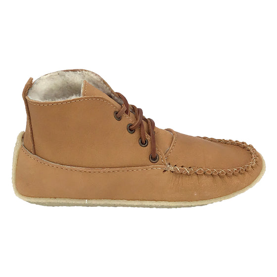 Women's Sheepskin Lined Rubber Sole Moose Hide Boots