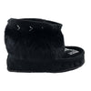 Women's Black Ankle Rabbit Fur Nuka Mukluks