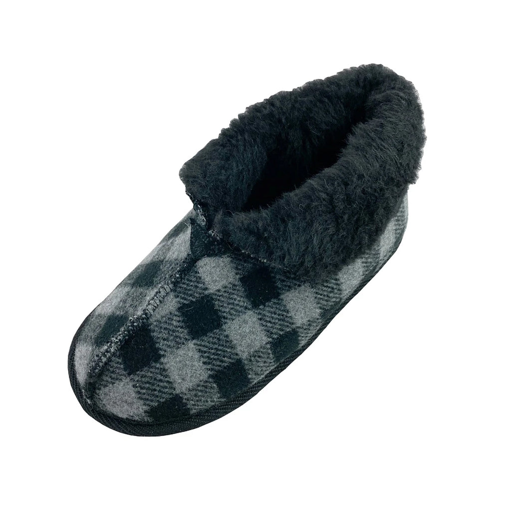 Women's Clearance Plaid Wool Slippers