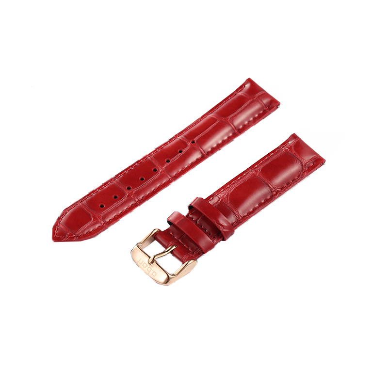 Red Lady's Leather Strap 18mm