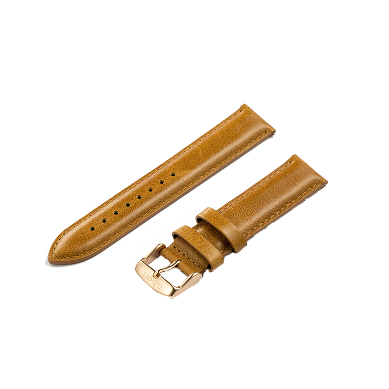 Brown leather strap 20MM