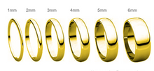 Load image into Gallery viewer, Yellow Gold Rounded Edge Wedding Band