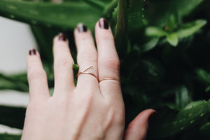Two Toned Mountain Ring