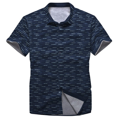 Dense Waves Button Shirt