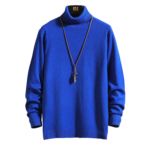 Solid High Neck Sweater