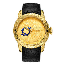 Load image into Gallery viewer, MEGALITH Gold Dragon Sculpture Automatic Mechanical Watch For Men