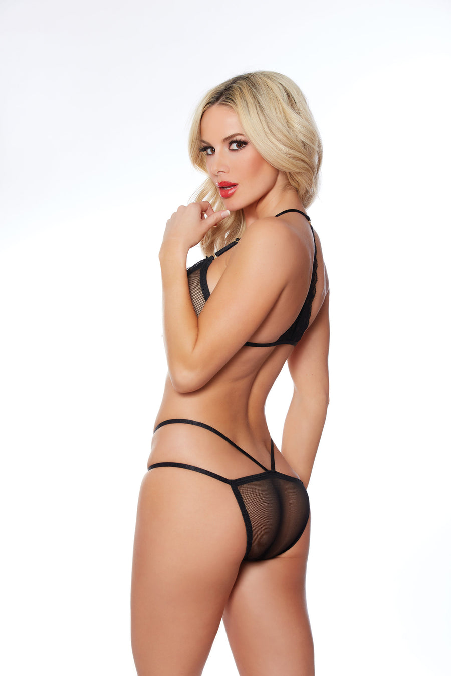 Sexy Black Widow Two Piece Panties Set
