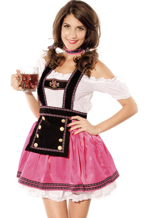4PC Sweet Flirting Beer Babe Costume