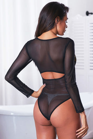 Black Long Sleeve Bodysuit