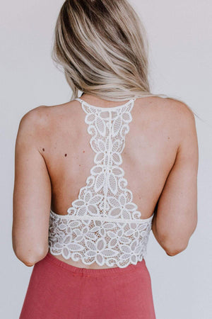 White Crochet Lace Bralette