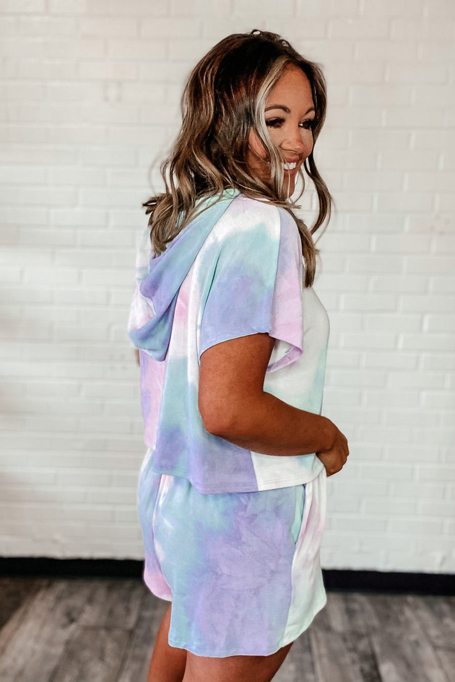 Blue Purple Tie Dye Lounge Two-Piece Set