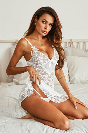 White Lace Bridal Babydoll
