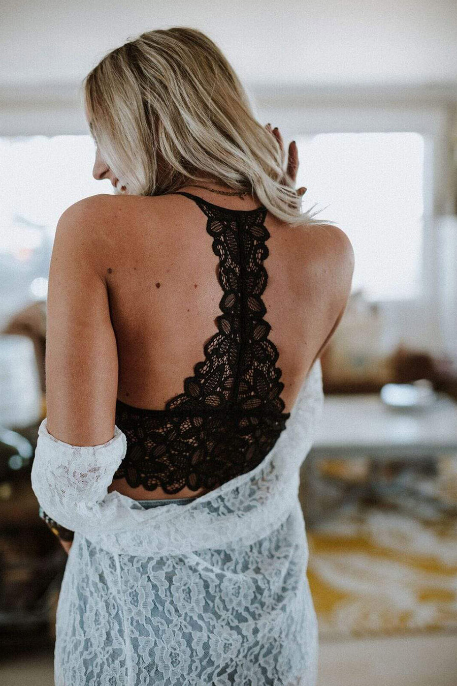 Black Crochet Lace Bralette