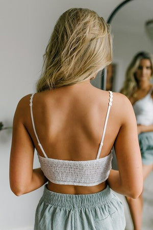 White Sunrise to Sunset Lace Bra