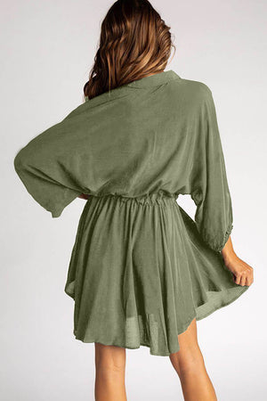 Sunday Afternoon Green Dress
