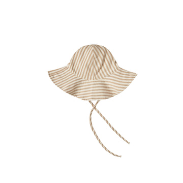 Floppy Sun Hat - Striped Almond