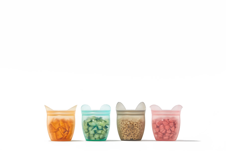 Set of 4 Silicone Snack Containers