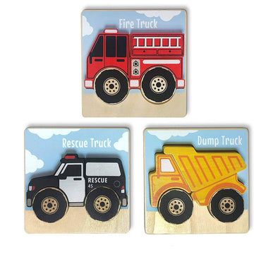 Vehicles Puzzles 3-Pack Chunky Puzzles