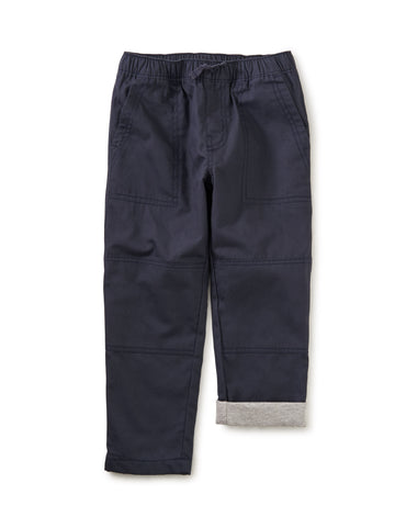 Cozy Jersey Lined Pant - Indigo